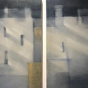 oil painting diptych