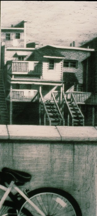 Roof View C- (triptych) by Karen Fogarty